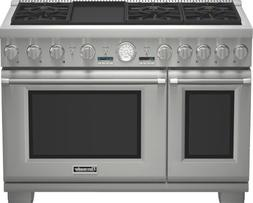 Thermador 48 In. Stainless Steel Gas Range - PRG486JDG