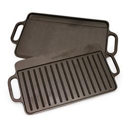 Victoria Rectangular Griddle, Medium Reversible Cast Iron, 1