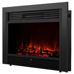 "35""x22"" 1500w Adjustable Electric Wall Mount Fireplace Heate"