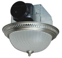 Air King AKLC702 Decorative Quiet Round Bath Fan with Light,