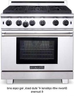"ARR-436GDN American Range 36"" Cuisine All Gas Range with 4 S"