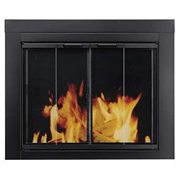 Ascot Fireplace Screen and Bi-Fold Track-Free Glass Door, Sm