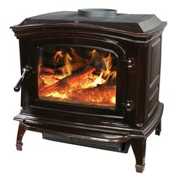 Ashley AWC21M Cast Iron Wood Stove Mahogany Enameled Porcela
