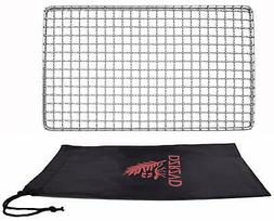 Backpacker's Grill Grate-Welded Stainless Steel Mesh Titaniu
