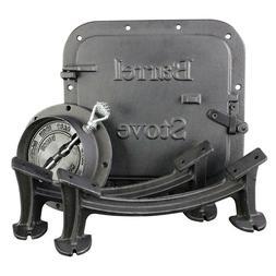 Barrel Camp Stove Kit Heavy Duty Cast Iron Fireplace Accesso