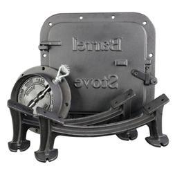 US Stove Barrel Stove Kit Heavy Duty Cast Iron Fireplace Acc