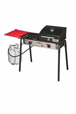 Camp Chef Big Gas Grill 2X  2-Burner Stove with Included BBQ