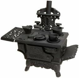 Black Mini Wood Cook Stove Set - 12 Inches Long With Accesso