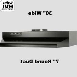 """BLACK OVER THE STOVE RANGE HOOD Ducted 30"""" Exhaust Fan Kitch"""