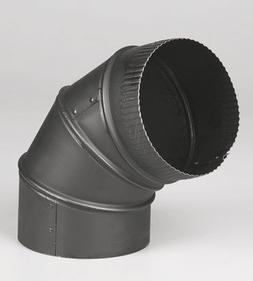 "UNITED STATES HDW BM0014 6"" Adjustable Elbow, Black"