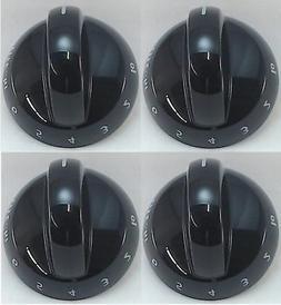 Top Burner Knob, 4 Pack, for Frigidaire, Tappan, AP4322122,