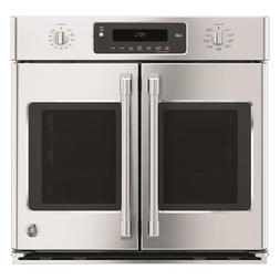 """GE Cafe CT9070SHSS 30"""" Single French Door Electric Wall Oven"""