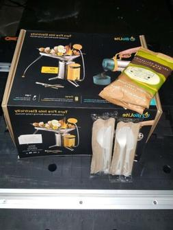 BioLite Camp Stove 2 Bundle with Coffee Press & FlexLight -