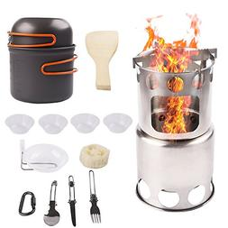 Camp Stove Stainless Steel Wood Burning Stoves with Camping