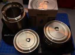 Solo Stove Campfire & 2 Pot Set Combo: 4+ Person Wood Burnin