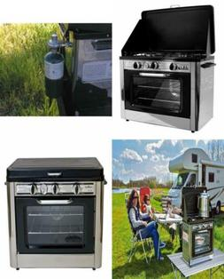 Camping Outdoor Oven with 2 Burner Stove Cooks for up to 5 h
