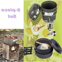 Camping Stove Cookware Outdoor Backpacking Hiking Picnic Coo