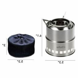 Camping Stove Stainless Steel Backpacking Stove Potable Wood
