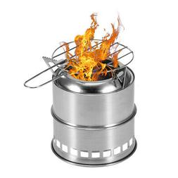 Camping Stove with Alcohol Tray and Grill Net Hiking Backpac