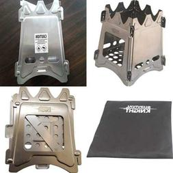 Camping Wood Stove Collapsible Lightweight Hiking Fire Kit B