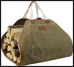 Innostage Canvas Log Carrier Bag,Durable Wood Tote,Fireplace