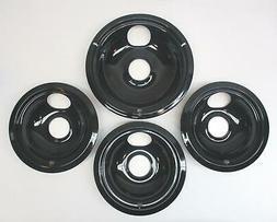 "CP2 Range Stove Chrome Drip Pans Bowls Set 3// 6/"" 1// 8/"""