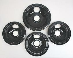 CB9 Range Stove Porcelain Drip Pans Bowls Set 3 and 1