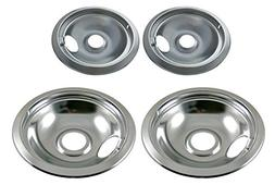 Chrome Drip Pan Set Replacement for Frigidaire Kenmore 31604