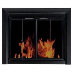 Clairmont Fireplace Screen and Bi-Fold Track-Free Smoked Gla