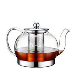 Toyo Hofu Clear High Borosilicate Glass Teapot with Removabl