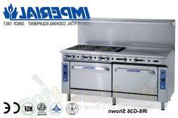 "Imperial Commercial Restaurant Range 48"" With 2 Burner 36"" G"