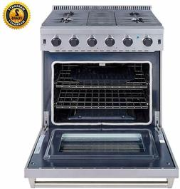 "Cooktop Stove 30"" Gas Range 5 burner with oven Stainless Ste"