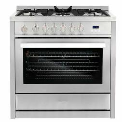 Cosmo COS-965AGC 36 in. 3.8 cu. ft. Single Oven Gas Range wi
