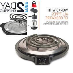 Countertop Burner Small Electric Single Stove Hot Plate Port