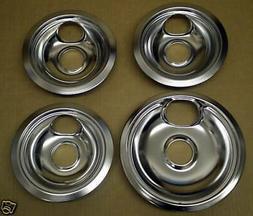 "CP2 Range Stove Chrome Drip Pans Bowls Set 3/ 6"" 1/ 8"""