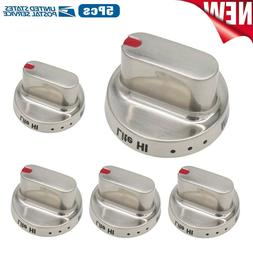 5pcs DG64-00472A Stainless Steel knob Compatible with Samsun
