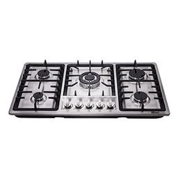 DeliKit DK258-A01 34 inch Gas Cooktop gas hob 5 burners LPG/