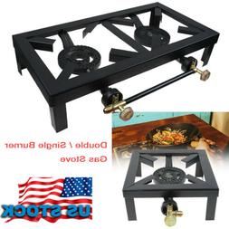 Double Burner Gas Propane Cooker Outdoor Camping Picnic Stov