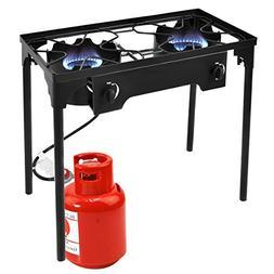 Giantex 2 Burner Outdoor Camping Stove High Pressure Burner