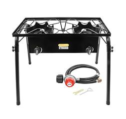 Concord Cookware Double Burner Outdoor Stand Stove Cooker