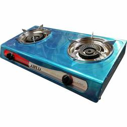 DOUBLE BURNER STOVE DOUBLE HEAD PORTABLE PROPANE GAS FOR OUT