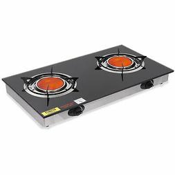 Double Portable Infrared Flame Gas Stove Large Propane Burne