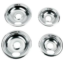 Drip Pans Reflector Bowl 4pc Set 6 and 8 Frigidaire Whirlpoo