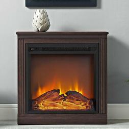 Electric Fireplace Stove Mantel Firebox Heater Wood Surround