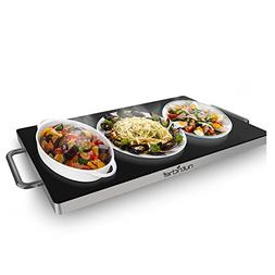 Nutrichef Electric Warming Tray / Food Warmer with Non-Stick