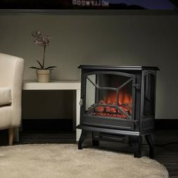 "Embedded 28.5"" Electric Fireplace Insert Heater Log Flame wi"