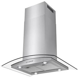 "AKDY 36"" Euro Style LED Lights Stainless Steel Island Mount"
