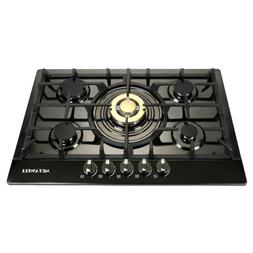 Euro Gold 30 inch Stainless Steel 5 Burners Built-In Stoves