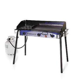 Expedition 3X Triple Burner Stove w/griddle