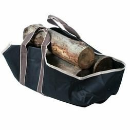 Fire Log Tote, Fireplace Accessories, Heavy Durable Canvas,